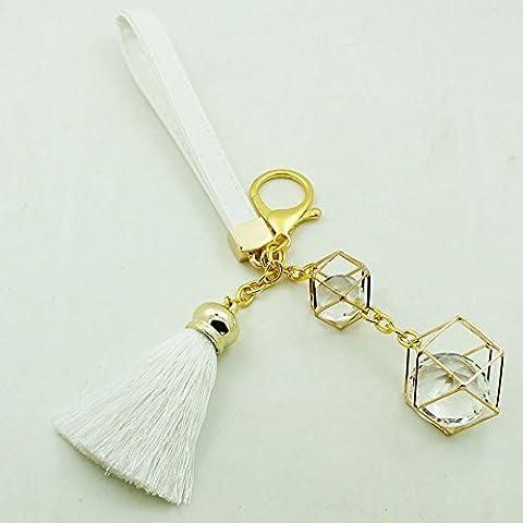 Teléfono de cuerda colgante decorativo bolsa mochila niñas colgante de cristal Bolsa de joyería ornamentos