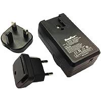 MaximalPower - Caricabatterie con adattatori UK/Europa per Sony NP-BN1/NPBN1/BN1