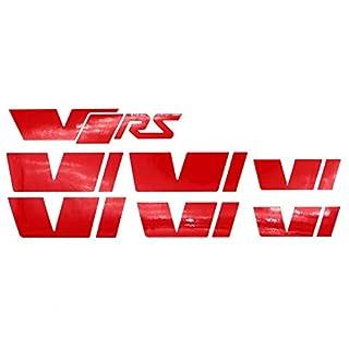 058 VRS Emblem Folien Set (Rot Glanz)