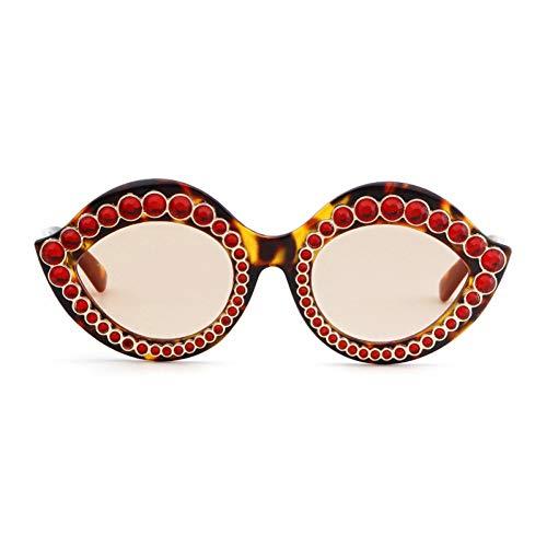 ZRTYJ Sonnenbrille Sexy lippenform Sonnenbrille Frauen Diamant Marke Retro Vintage cat Eye kristall Rahmen chic Sonnenbrille
