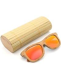 16d400d4401cc7 AZB Bambou Lunettes de soleil polarisées pour hommes et femmes, lunettes de  soleil vintage en