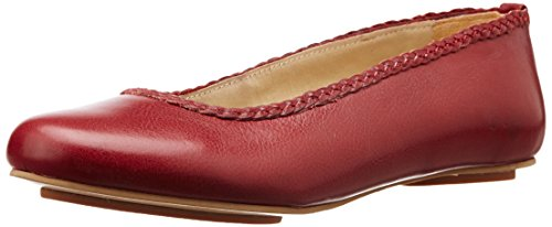 Hidesign Women's Grace Red Leather Ballet Flats - 5 UK