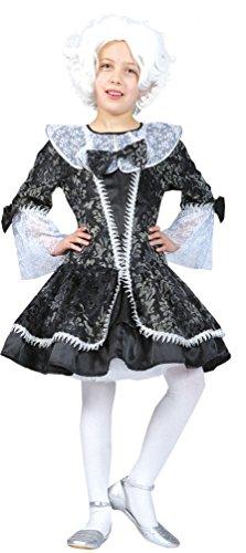Karneval-Klamotten Barock Kostüm Kinder Renaissance Kostüm Mädchen Rokoko Kinder-Kostüm grau Größe (Kostüme Renaissance Muster)