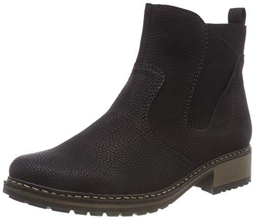Rieker Damen Z6854 Chelsea Boots, Schwarz 01, 42 EU