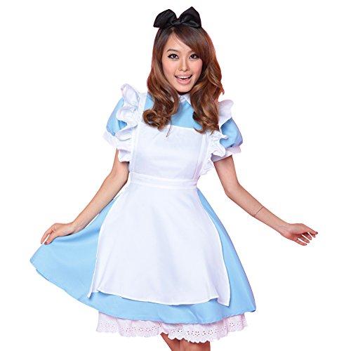 Free Fisher Damen Kostüm Dienstmädchen für Karneval Fasching Halloween 38/40 (Herstellergröße L)