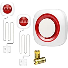 Detectores de Agua gsm Alarma de Agua e inundación a Batería con Auto SMS Dial Alert
