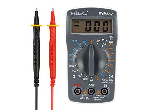 Velleman DVM832 Digital-Multimeter- Cat Ii 500 V/Cat Iii 300 V- 10A- 1999 Zählungen