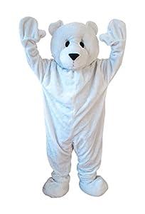 Carnival Toys 25909 - oso polar, señores separado traje, cabeza y pies, Universal L-XXL
