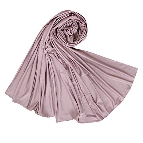 LSAltd Mode Frauen Ethnische Klassische Reine Farbe Abaya Islamischen Muslimischen Nahen Osten Weiche Wildleder Hijab Wrap Schal Headwear
