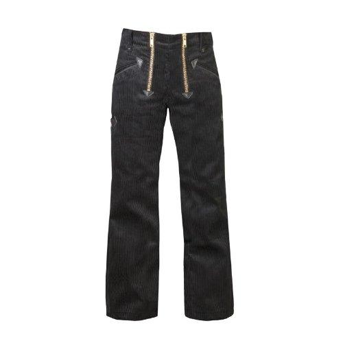 OYSTER TrenkerCord Zunft-Hose Arbeits-Hose - 50256 - mit Schlag - breite Rippe - schwarz