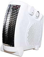 Phantio 2 in1 Portable Space Heater - Quiet Combo Electric Personal Fan, Fast Heating, Overheat & Tip-over