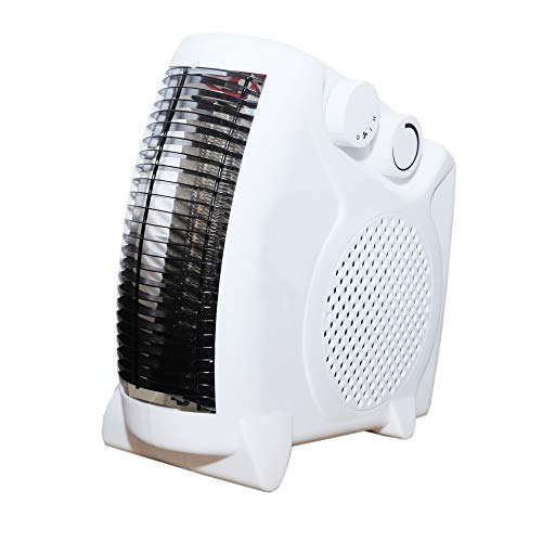 Phantio 2 in1 Portable Space Heater - Quiet Combo Electric Personal Fan, Fast Heating, Overheat & Tip-over Protection Air Circulating for Office Desk Bedroom Home Indoor Use
