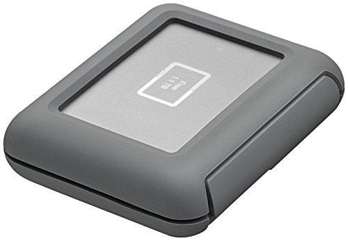 LaCie STGU2000400 externe All-Terrain Festplatte mit USB-C Anschlus DJI CoPilot, Grau