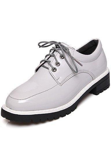 ZQ hug Scarpe Donna-Sneakers alla moda-Tempo libero / Casual / Sportivo-Comoda / Punta squadrata-Plateau-Vernice-Nero / Grigio , black-us6.5-7 / eu37 / uk4.5-5 / cn37 , black-us6.5-7 / eu37 / uk4.5-5  black-us6.5-7 / eu37 / uk4.5-5 / cn37