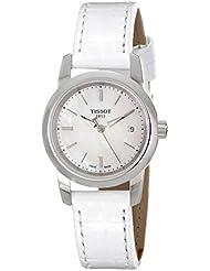 Tissot CLASSIC DREAM T0332101611100 - Reloj de mujer de cuarzo, correa blanca, esfera blanco nácar