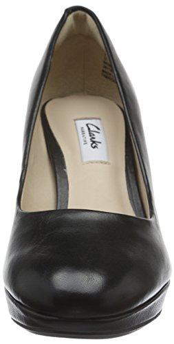 Clarks Kendra Sienna, Scarpe con Tacco Donna Nero (Black Leather)
