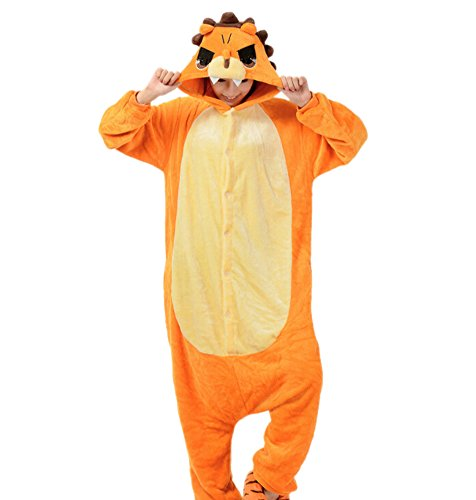 Onesies mit Kapuze Erwachsene Unisex Cospaly Schlafanzug Halloween Kostüm Löwe Geeignet für Hohe 160-175CM (Löwe Frauen Halloween Kostüm)