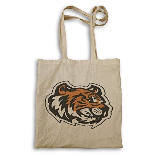 (Tiger Kopf Maskottchen-Logo Tragetasche u621r)
