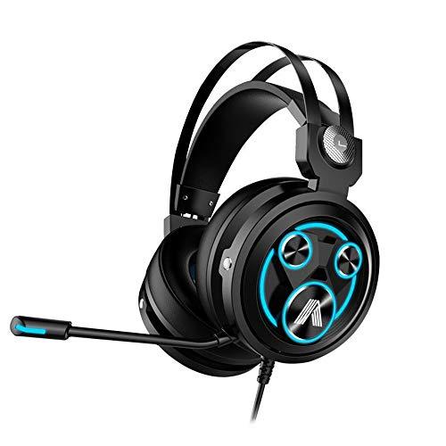 Xbox One Gaming Headset, PS4 Headset mit 7.1 Surround Sound, Geräuschunterdrückung, Over-Ear Kopfhörer mit Mikrofon, weicher Memory-Ohrenschützer für PS4, PC, Xbox One Controller PS2 Blau blau (Razor Surround-sound)