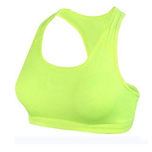 Nanxson(TM) Femmes Soutien-gorge/Gilet De Sport Pour Yoga Course Gymnastique Tennis YDSW0004 Vert