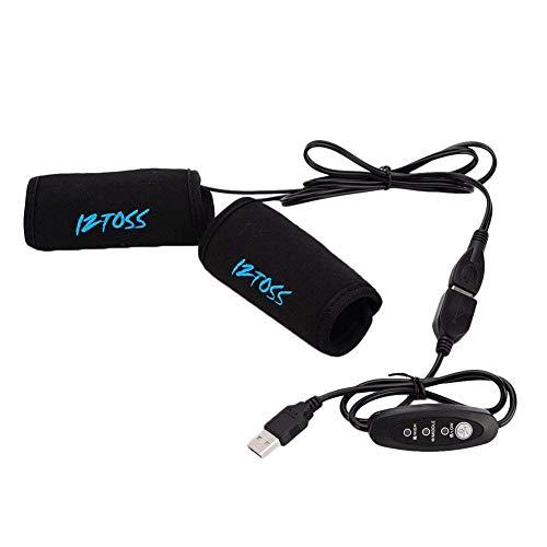 Calefacción Moto, xgz USB calefactables Fahrradgriffe brazo con regulador de temperatura Interruptor...