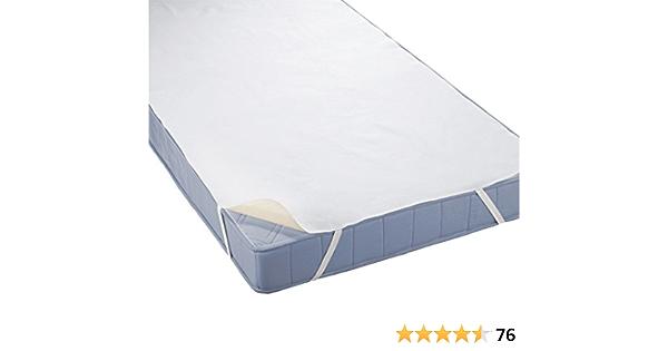 Coprimaterasso impermeabile a mollettoni/ bianco /100/% cotone /Incontinenza cuscino/ /Prodotto in Germania/ /Bianco/ 70 x 140 cm