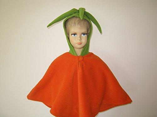 fasching karneval halloween kostüm cape für kleinkinder karotte