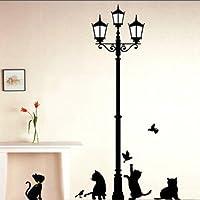 tntoy–Nero a forma di gatto Farfalla Carta da parati Graphic accessori per la casa