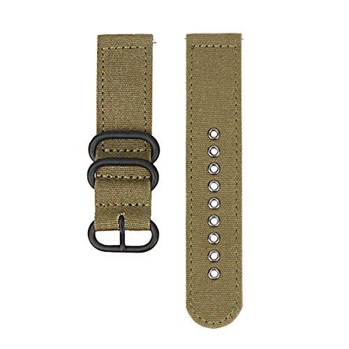 orologio 20 millimetri cinghia cinturino cintura rapida sport tela sgancio...