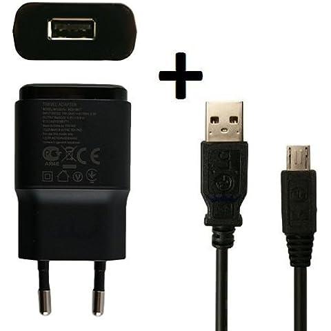 LG Electronics MCS-04ED + DK-100M - Cable de carga original para LG G3 (USB a micro USB, 1,8 A, 1800