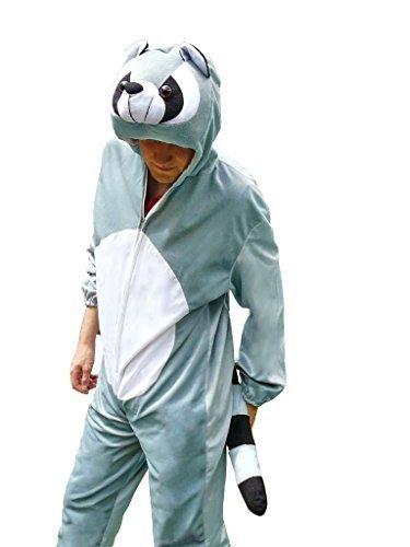 Waschbär-Kostüm, J21 Gr. XL, Für hochgewachsene Männer und Frauen, Wasch-bär Kostüme Wasch-bären Kostüme Faschingskostüm, Fasching Karneval, Faschings-Kostüme, Geschenk Erwachsene (Mann In Bären Kostüm)