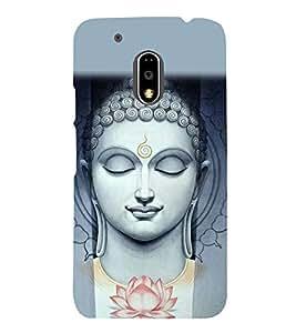 Buddha Wallpaper 3D Hard Polycarbonate Designer Back Case Cover for Motorola Moto G4 :: Motorola Moto G (4th Gen)