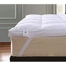 Protector de colchón de plumas de ganso para cama extraprofunda de hotel