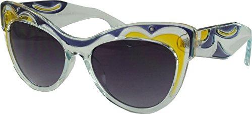 Revive Eyewear Retro Tiffany CAT EYE Stil Damen Sonnenbrille, Blau