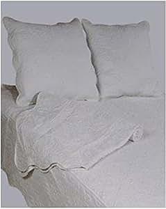couvre lit boutis 2 places uni gris clair cuisine maison. Black Bedroom Furniture Sets. Home Design Ideas
