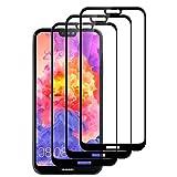 UPGOO [Lot de 3 Verre Trempé Huawei P20 Lite, Protection écran Huawei P20 Lite, Film Protection pour P20 Lite, Ultra Résistant Dureté 9H Anti Rayures sans Bulles (Noir)