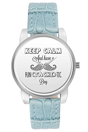 Women's Watch, BigOwl Keep Calm And Have aFantastic Day Designer Analog Wrist Watch For Women - Gifts for her dials