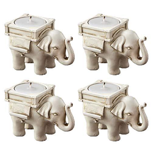 4pcs elefante vela titular candelabro asiento tarjeta con cinta de vela para Bar Casa Hotel Fiesta decoración de la boda