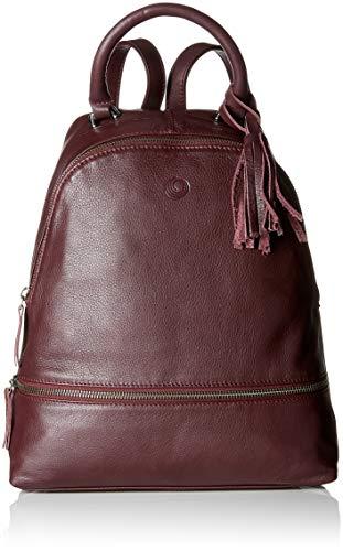 Be Natural Damen 61001-21 Schultertasche Rot (Bordeaux) 11x31x27.5 cm