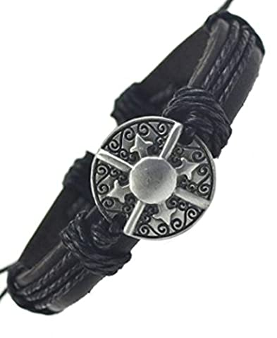 SaySure - Star Leather Bracelets & Bangles for Women Men Jewelry