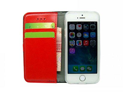 CATOE Luxus Business Style Kaschmir Flip Case Wallet Magnet Stand Cover mit Kartenschlitzen für Apple iPhone, Grid, Apple iPhone 5/5S grau