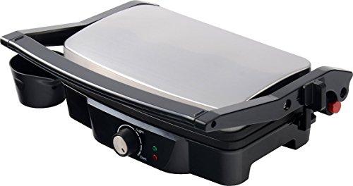 Ardes ar1s20 sfizio piastre rigate antiaderenti basculanti griglia elettrica con doppia posizione di cottura apertura 180° controllo temperatura e avvolgicavo ideale per toast, panini, hamburger, hot dog