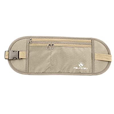 Money Belt for Travelling - Hidden Security Pouch worn Under Clothes for Cards and Passports - High Quality RFID Waterproof Breathable Material - Protect your Cash and Conceal Valuables by MountFlow
