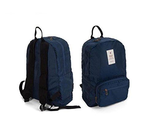YYY-Pack pelle viaggio pieghevole zaino grande capacità spalla portatile all'aperto uomini e donne alpinismo borsa nuova , green navy blue