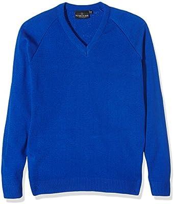J Masters Schoolwear Unisex V Neck Knitted School Jumper, Suéter para Niños