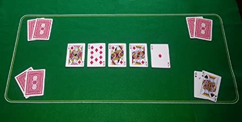 GREEN POKER CASINO FELT BAIZE LAYOUT - TEXAS HOLDEM