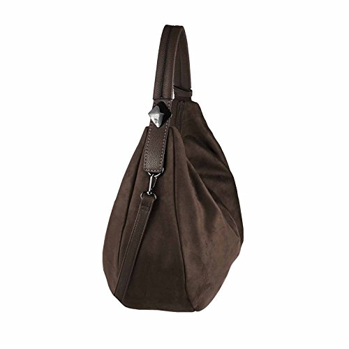 OBC Only-Beautiful-Couture , Sac bowling pour femme beige taupe ca.: 45x30x14 cm (BxHxT) marron foncé