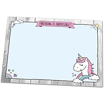 schreibtischunterlage unicorn ii din a3 mit einhorn motiv aus papier 25 blatt schreibunterlage. Black Bedroom Furniture Sets. Home Design Ideas