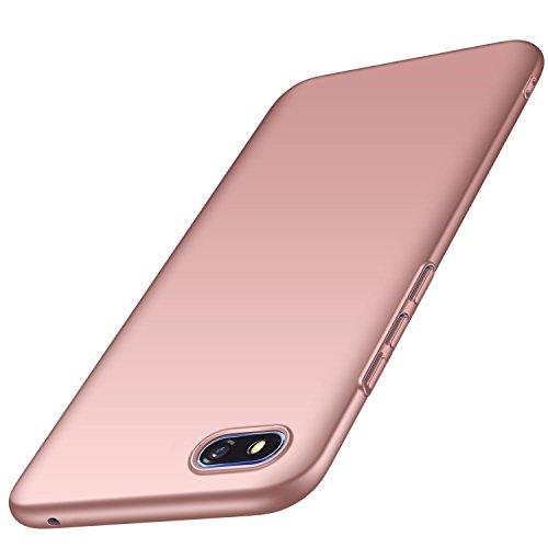 AOBOK Huawei Y5 2018 Hülle, Honor 7S Hülle, Ultra Slim Leichtgewicht Matt Schale HardCase, Anti-Scratch Schutzhülle, Stoßfest Cover HandyHülle für Huawei Y5 2018, Honor 7S Smartphone, Rosé Gold