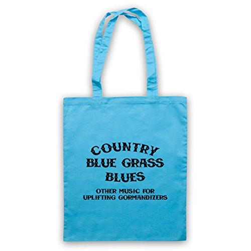 Ispirato Da Cbgb Omfug Country Blue Grass Blue Logo Mantello Non Ufficiale Borse Blu Chiaro